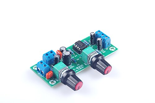 KNACRO DC 10V-24V Low-pass Filter NE5532 Bass Tone Subwoofer Pre-Amplifier Preamp Board by KNACRO