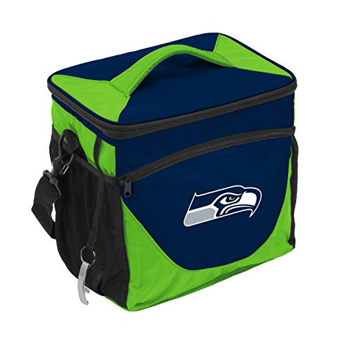 Logo Brands NFL Seattle Seahawks 24 Can Cooler, One Size, Navy by Logo Brands