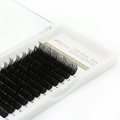 3D Mink Fur Eyelash Extensions Individual Mink Lashes Private Natural False Eyelashes,C Curl Mixed Length 8-14mm (EL-Mink (Eyelash Extension Lashes)
