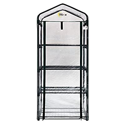 Ogrow Ultra-Deluxe 4 Tier Portable Bloomhouse Greenhouse