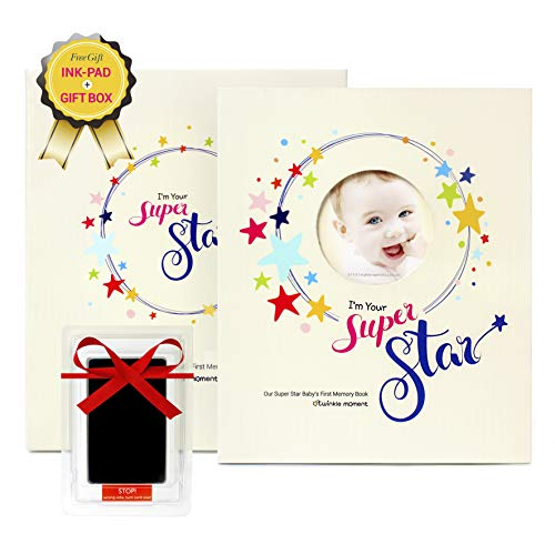 2019 New First-Five Year Baby Memory Book +Ink pad Set- Record Monthly Milestone Books Newborn Girl, boy Babys & Gifts for Baby Shower, mom dad All Family- 4X6 Photo Cute Album Journal Twinkle Moment (Best First Vegetables For Baby)