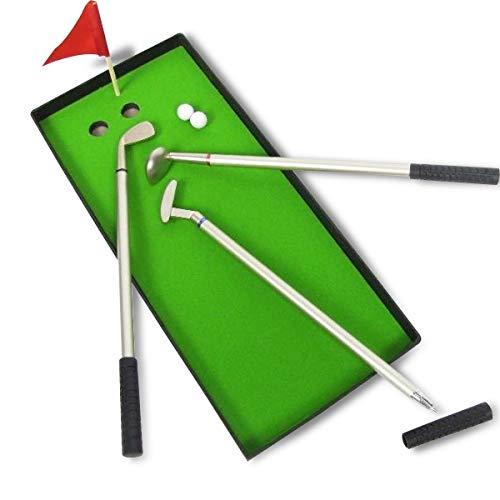 3 palos de golf plumas, verde, bandera, 2 juego de bolas de ...
