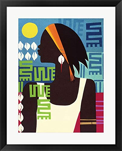 Honeywood Finish - Virtuous Woman by Varnette Honeywood Framed Art Print Wall Picture, Black Frame, 23 x 29 inches