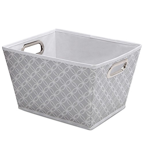 Tapered Storage - Delta Children Deluxe Water-Resistant Rectangle Tapered Tote, Infinity/Grey