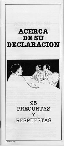 Descargar Libro Acerca De Su Declaracion: 95 Preguntas Y Respuestas Not Given
