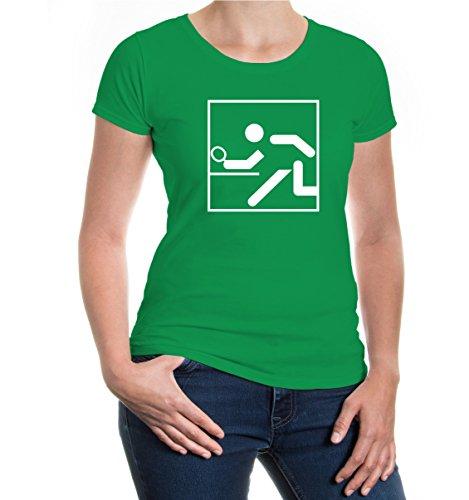 Girlie T-Shirt Table Tennis-Pictogram kellygreen