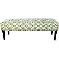 MJL Furniture Designs Kaya Collection Upholstered and Padded Button Tufted Accent Bedroom Bench, Noah Series, Summer