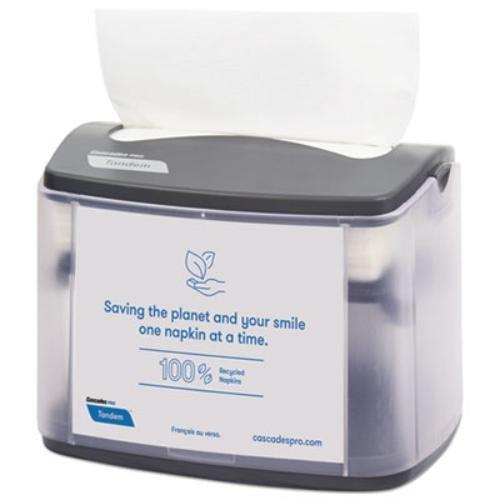 Tandem Tabletop Napkin Dispenser, 6.1 x 8.16 x 6.3, Gray, 4/Carton