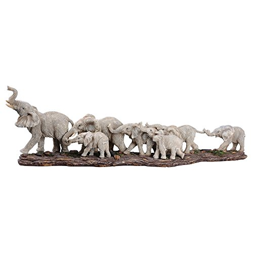 Comfy Hour Roaming Elephant Figurine Statue Sculpture (Large)