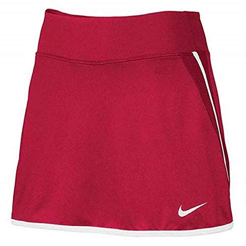 Nike Women's Power Tennis Skirt (Scarlet/White, X-Small) ()