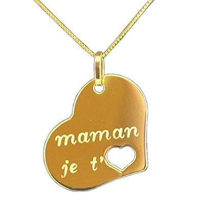 pendentif je t'aime maman