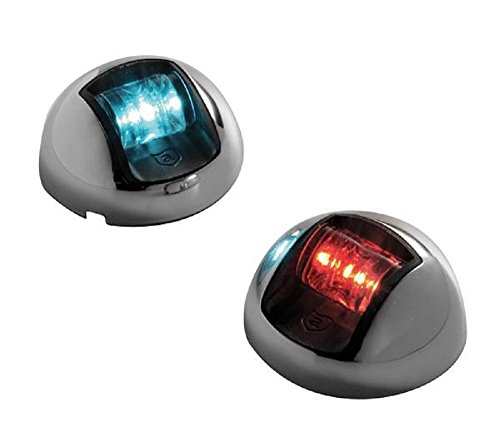 attwood LED 2-Mile Vertical Mount Navigation Lights, Stainless Steel (Pair)