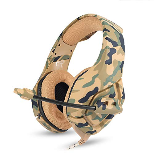 Camouflage PS4 Headset Bass Gaming Headphones Game Earphones Casque with Mic for PC Mobile Phone New Xbox One Tablet,Yellow