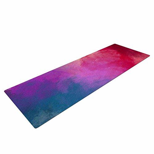 "Cheap KESS InHouse Viviana Gonzalez ""ABSTRACT 01″ Yoga Exercise Mat, 72″ x 24"", Pink/Blue"