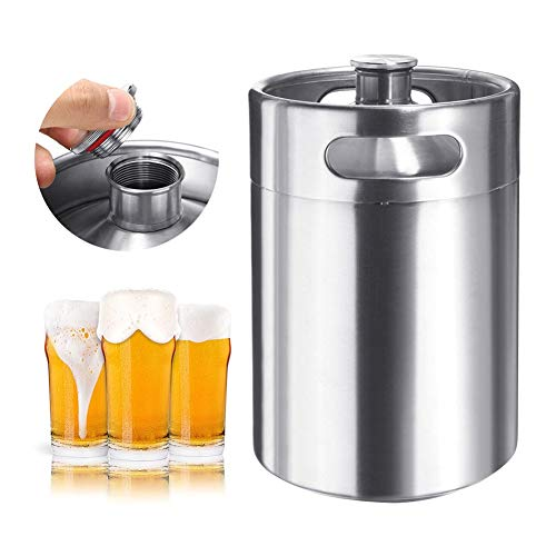SHOPPER's CHOICE 5L Stainless Steel Beer Barrel Keg Bottle Homebrew Growler Craft Beer Wine Making Brew Portable 170 OZ Restaurant Beverage Equipment Dispenser from Shoppers Choice