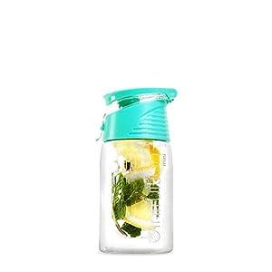 Infruition Mini Fruit Infusing Water Bottle - Mint Blue - 450 ML