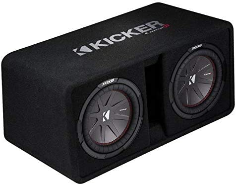 "KICKER 43VCWR122 Dual 12"" 2000W Complete Subwoofer Bass Package - Includes Loaded Subwoofer Enclosure, Amplifier Wiring Kit, Amplifier"