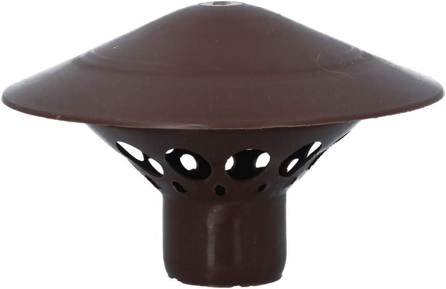 110 75 50 mm Kanalisationsentl/üfter Entl/üftungshaube 50 160 mm braun Dachentl/üfter