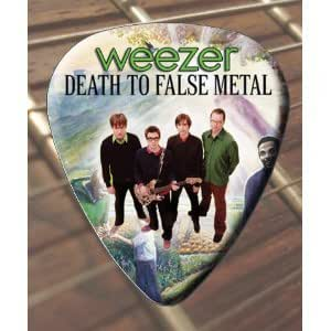 printed picks company weezer death to false metal guitar picks x 5 medium musical. Black Bedroom Furniture Sets. Home Design Ideas