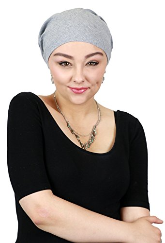 Cancer Headwear for Women Headscarves Chemo Patients Head Scarfs Head Coverings (Heather Grey) by Hats Scarves & More (Image #2)