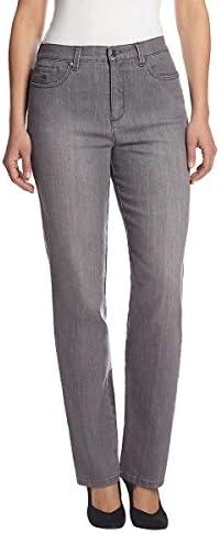Gloria Vanderbilt de la mujer Amanda tapered-leg Jean en gris glacial Wash
