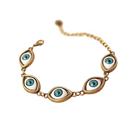 [Red Dandelion Unique Evil Eye Adjustable Bracelet Wristband] (Angel Costume Tumblr)