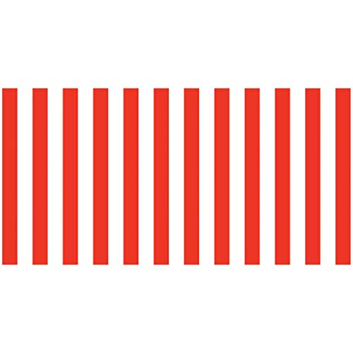 Fadeless PAC57615 Bulletin Board Art Paper, Classic Stripes - Red & White, 48
