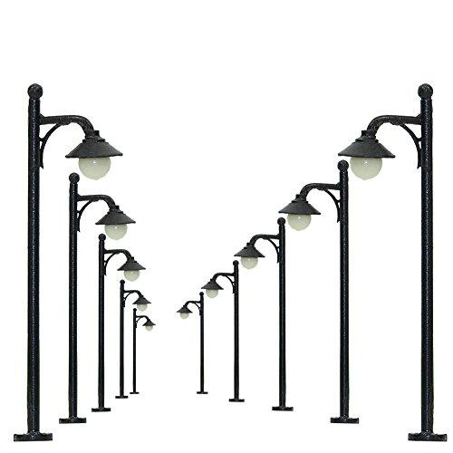 LYM21 10pcs Model Railway Train Lamp Post Street Lights N TT Scale LEDs NEW