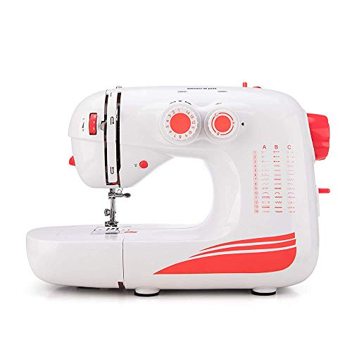 Sewing Machine by Elmish (42 Stitches, LED Sewing Light, Variable Speed Foot Pedal) – Electric Household Sewing Machines with 42 Built-in Stitch Patterns for Beginners and Advanced EM-004-A