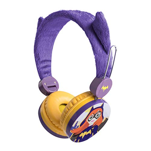 Sakar Batgirl HP1-15393A-WM Kids Headphones for Girls - Volume Limiting Over-Ear 3.5mm Stereo Jack, Soft, Cushioned Ear Pieces, Kids-Safe Technology, Pump Out Crisp, Clear Bass, Blue Black & - Soft Pumps Angels