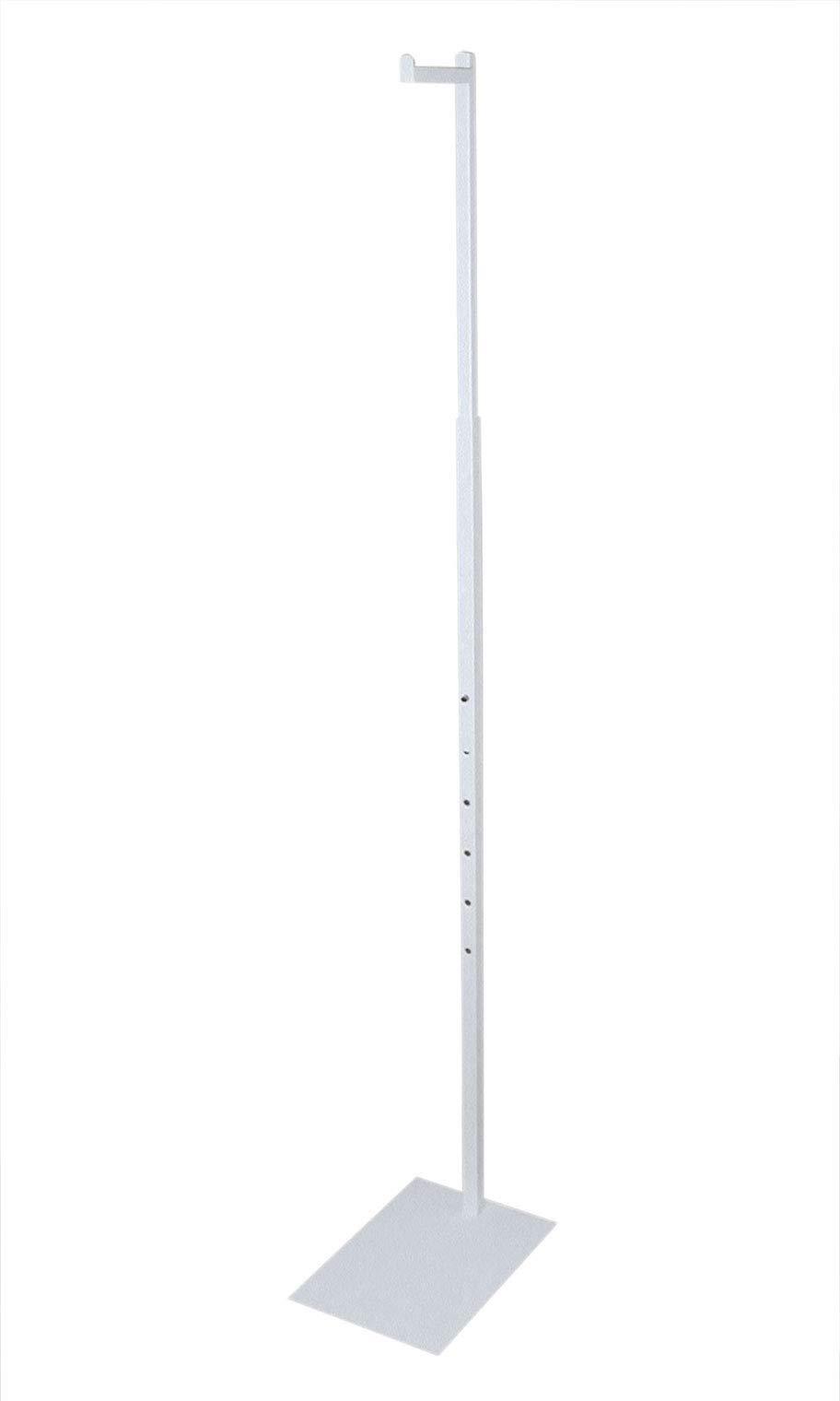 SSWBasics White Adjustable Single Costumer (Adjustable from 48'' to 72'')