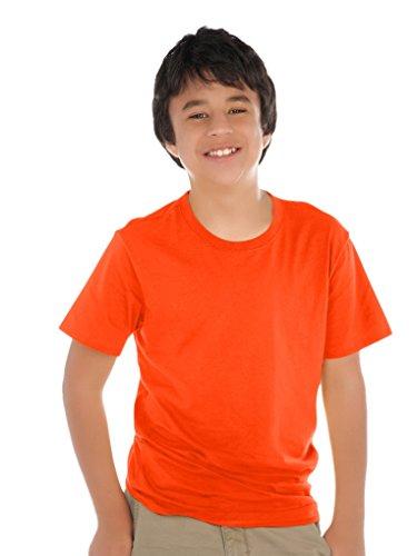 Kavio! Youth Crew Neck Short Sleeve Tee (Same YJP0495) Varsity Orange M -