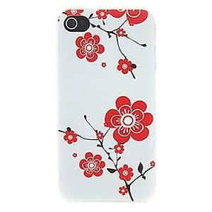ZMY Cubierta Posterior - Diseño Especial - para iPhone 4/4S ( Rojo/Negro/Blanco . Policarbonato )