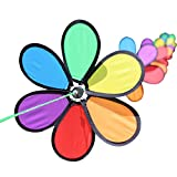 Aniwon 8PCS Pinwheel Decor Cute Wind Mill Wind Spinner with String for Outdoor Decor