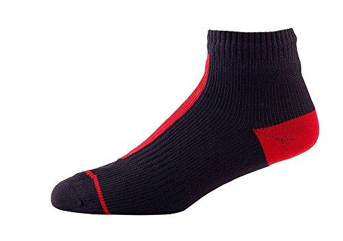 SealSkinz Road Socklet-Black/Red, Small