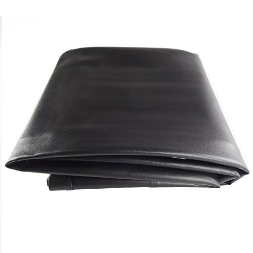(T&R sports Pool Table Cover 8 Foot Heavy Duty Leatherette Fitted Thick Billiard Table Cover, Brown/Black)
