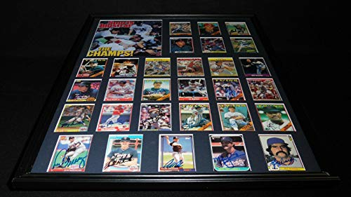 1987 Minnesota Twins World Series Champions Team Signed Framed 18x24 Photo Set - Autographed MLB -