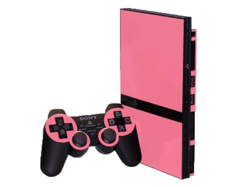 Sony PlayStation 2 Slim (PS2 Slim) Skin - NEW - SOFT PINK system skins faceplate decal mod