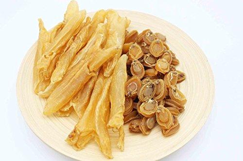 China Good Food Set-22 Dried Dalian Abalones 大連鮑 x Dried Medium Fish Maw Roll 中花膠筒 Free Airmail by China Good Food