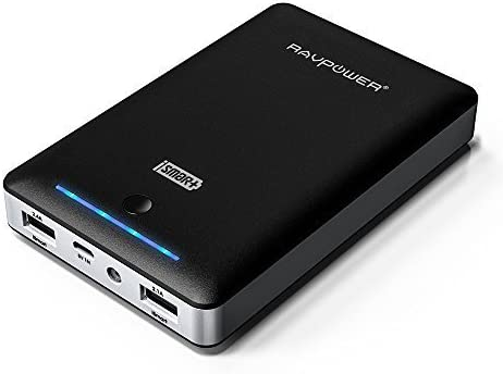 RAVPower, ,Batería externa, 16000 mAh batería portátil, cargador universal para iPhone iPad iPod smartephone tableta Samsung Android, salida USB dual ...