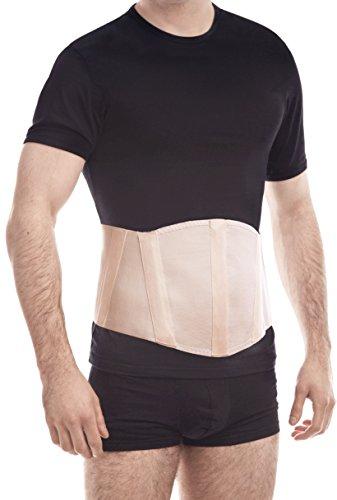 "TOROS-GROUP Ergonomic Umbilical Navel Hernia Belt / Abdominal Support Brace - Small, Waist/Belly 35½"" - 39½"" Beige"
