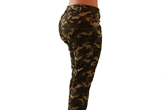 87acc76e575f2 Diamante Juniors Size Sweet Look Colombian Design Butt Lifter Women Denim  Jeans- Levantacola-Camo