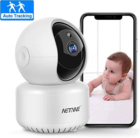 WiFi IP Camera 1080P, Home Indoor Security Camera, Pet Dog Nanny Baby Camera Monitor Pan Tilt Zoom Dome Camera with Night Vision, 2 Way Audio, Motion Detection, Auto Tracking, SD Cloud Storage