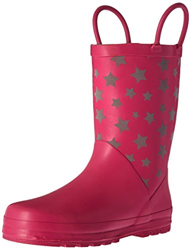 Western Chief Girls Printed Rain Boot, Reflective Stars, 12 M US Little Kid