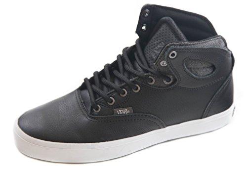 愛ドールゲインセイVans Bushwickスケートボード靴bio-washブラックホワイト