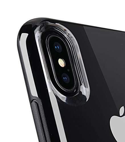 Melkco Kubalt Edelman Series Layer Apple iPhone X Support Wireless Charging Rugged Case, Shock Protection, Raised Bevel, Edge Protection, Military Grade Case - Black by Melkco (Image #4)