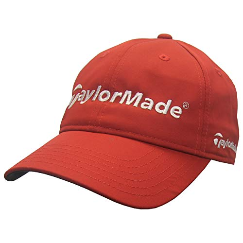 TaylorMade Golf Men's Performance Front Hit Adjustable Golf Hat, Red