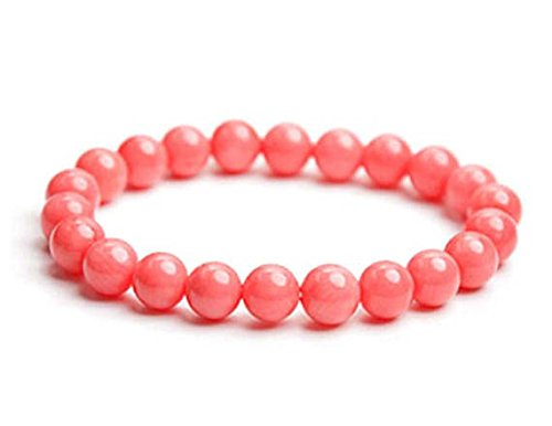 8mm Pink Coral Bracelet, Pink Coral Jewelry, Pink Coral Bead Bracelet, Coral Bracelet, Pink Coral Stretch Bracelet, Bead Bracelet Women
