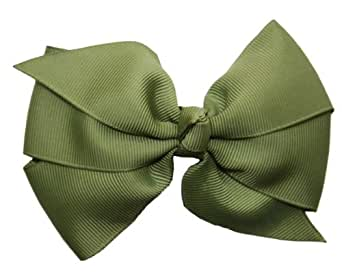 Posies Accessories Big Grosgrain Hair Bow (Green Willow)