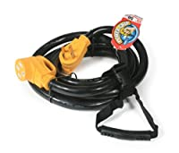 Camco 30 Amp Power Grip Extension Cord with 90M/90F Locking Adapter